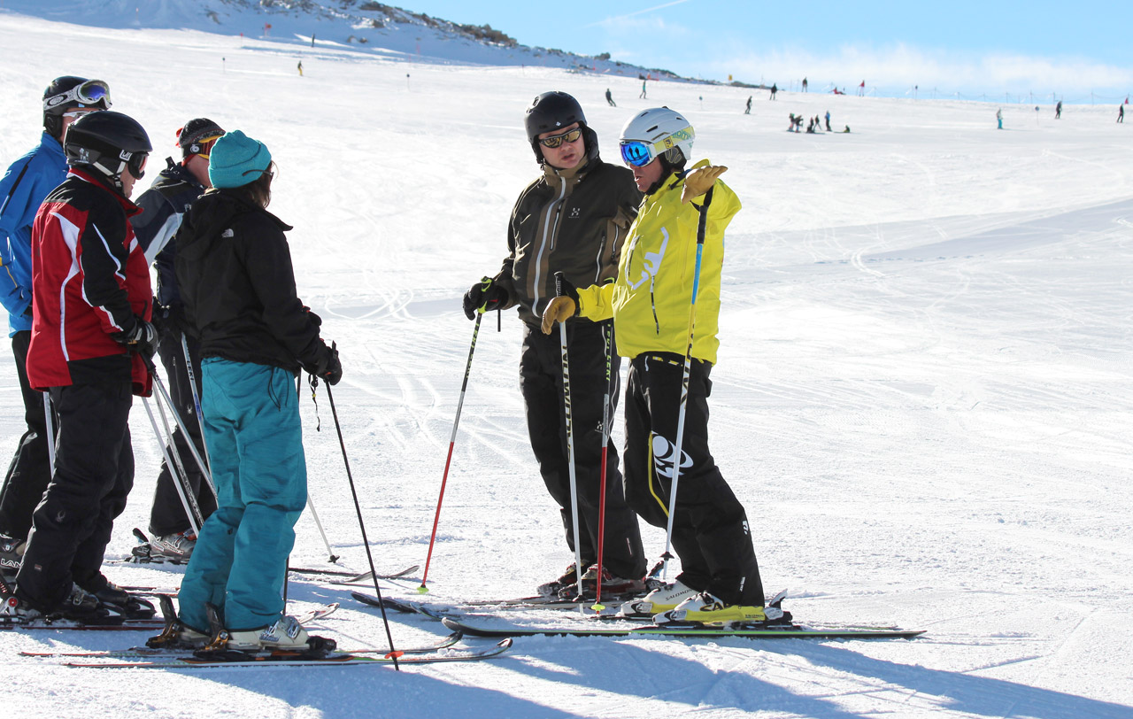 group ski lessons in St gervais, Megeve, Les Contamines
