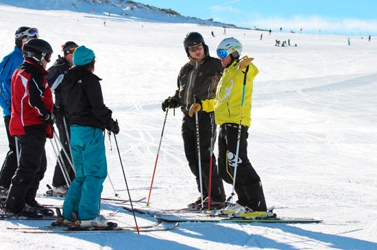 Adult Group ski lessons in Megeve