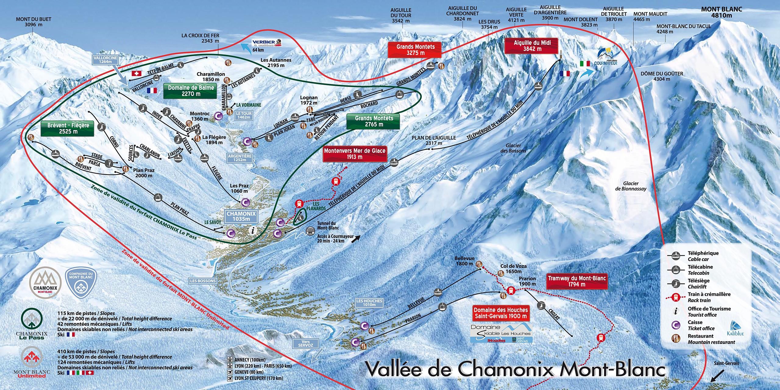 Chamonix Piste Map