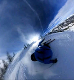Luca Skiing Megeve