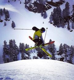 Toni Skiing In Megeve