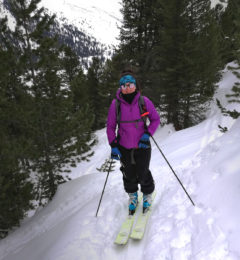 Claire Ski Touring In Megeve